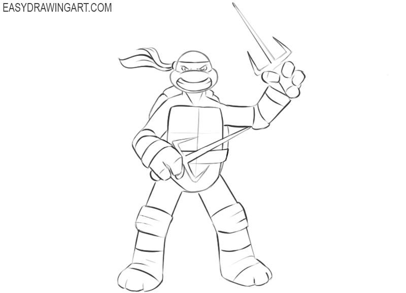 Ninja Turtle drawing tutorial