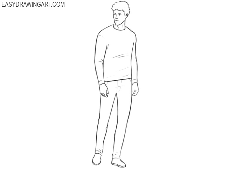Person drawing tutorial
