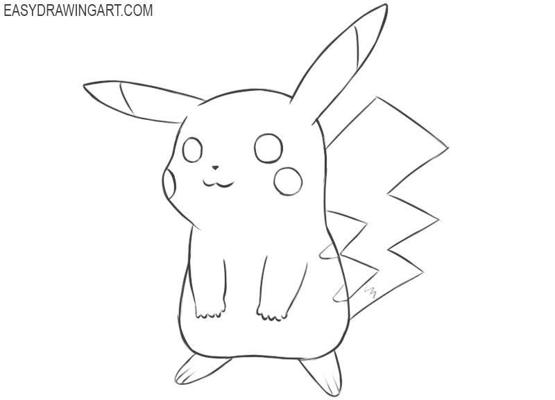 Pikachu drawing tutorial