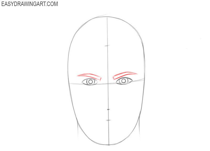 Steps to draw a face