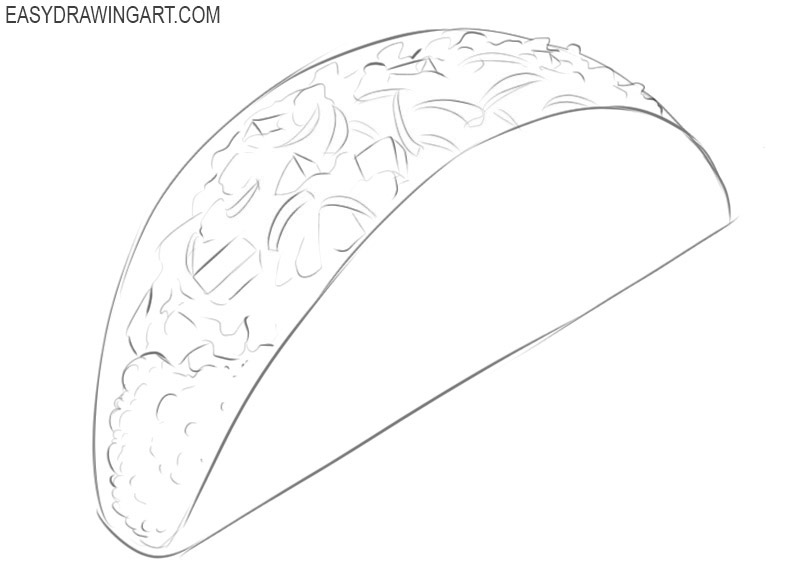 Taco drawing lesson