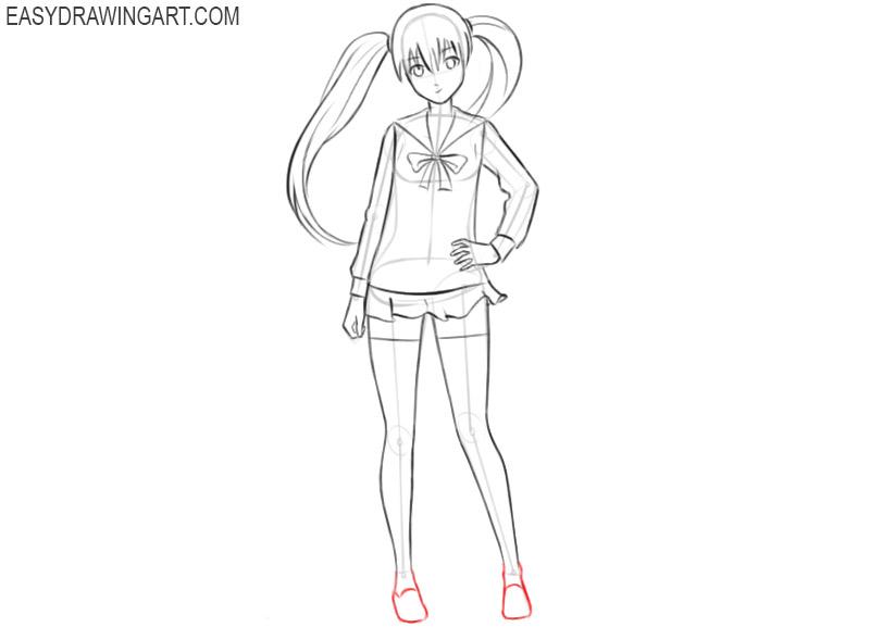 anime girl drawing cute