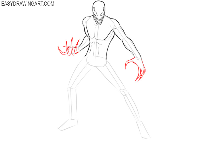 carnage drawing easy