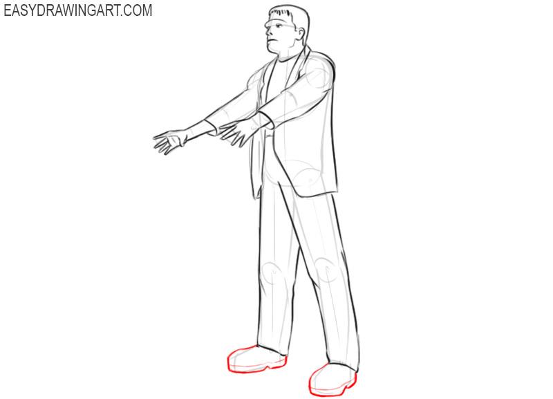 frankenstein drawing tutorial