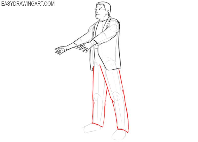 frankenstein simple drawing