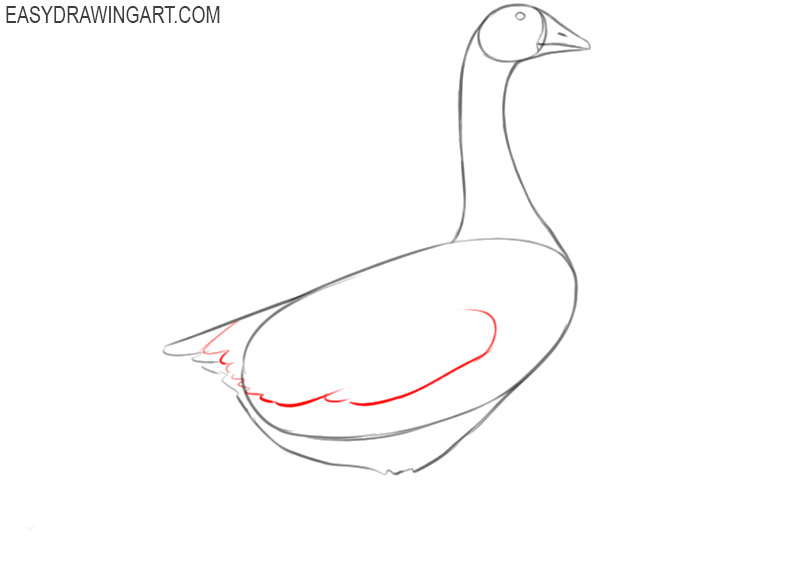 goose drawing easy