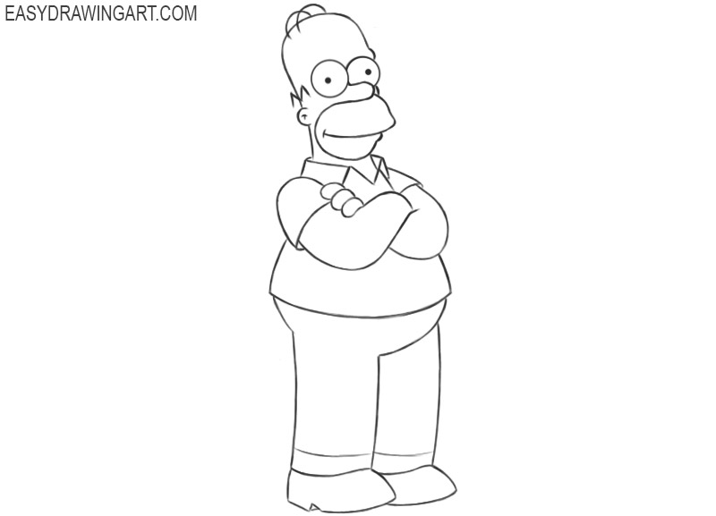 homer simpson drawing color