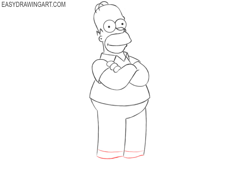homer simpson drawing easy