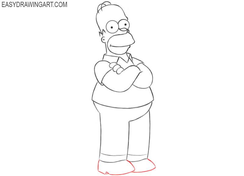 homer simpson drawing tutorial