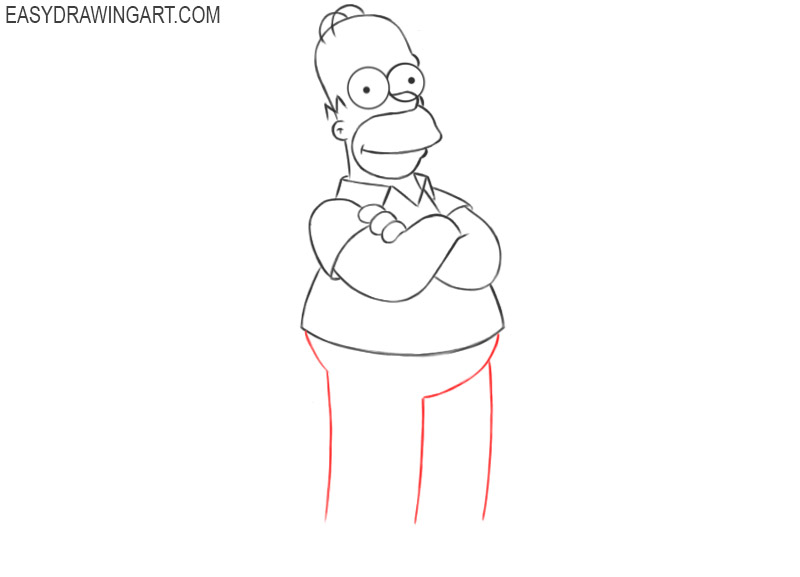 how 2 draw homer simpson