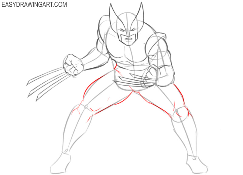 how 2 draw wolverine step by step