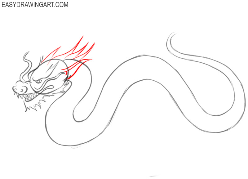 how do you draw a chinese dragon
