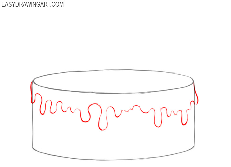 how to draw a birthday cake easy step by step