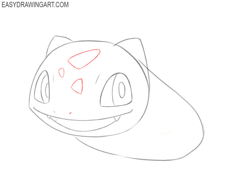 how to draw a bulbasaur step by step
