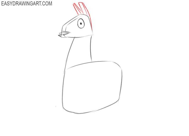 how to draw a cartoon fortnite llama