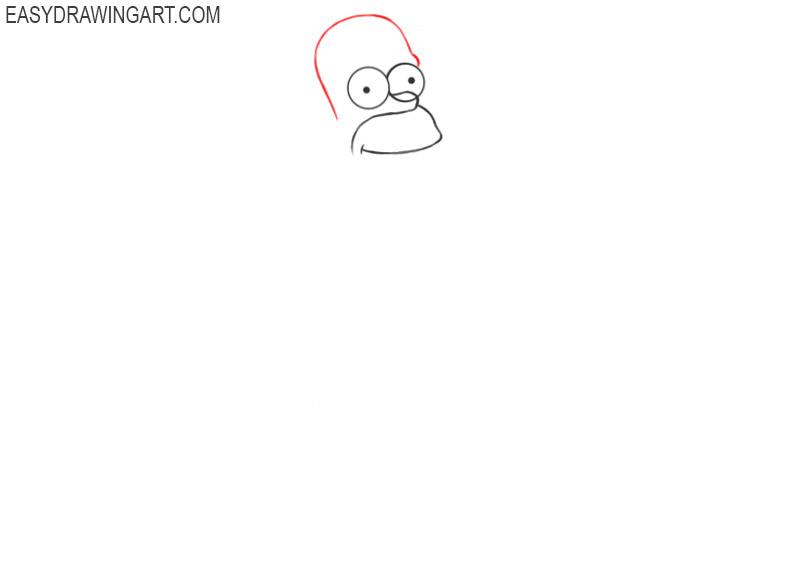 how to draw a cartoon homer simpson