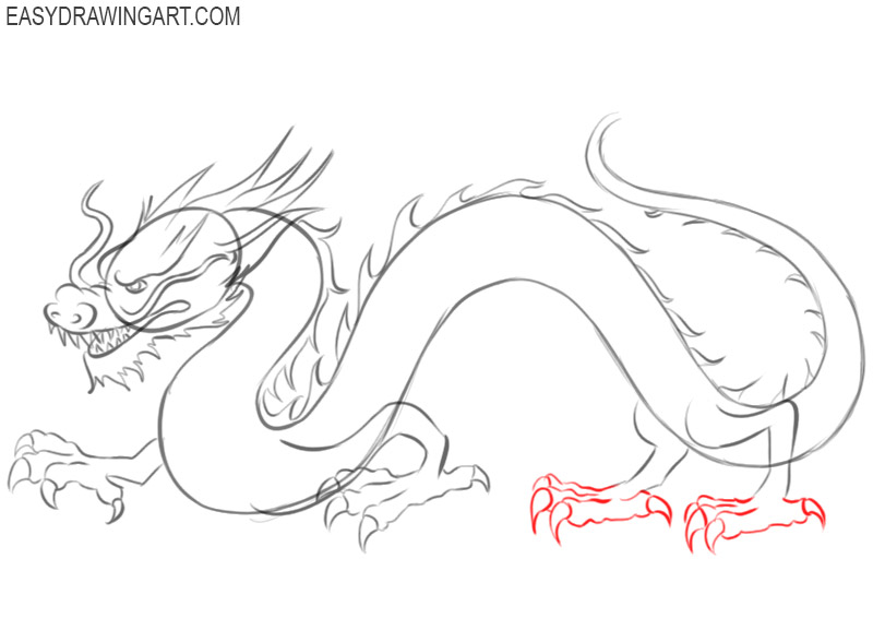 how to draw a chinese dragon step by step for beginners