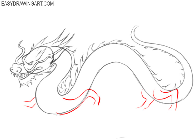 how to draw a chinese new year dragon easy