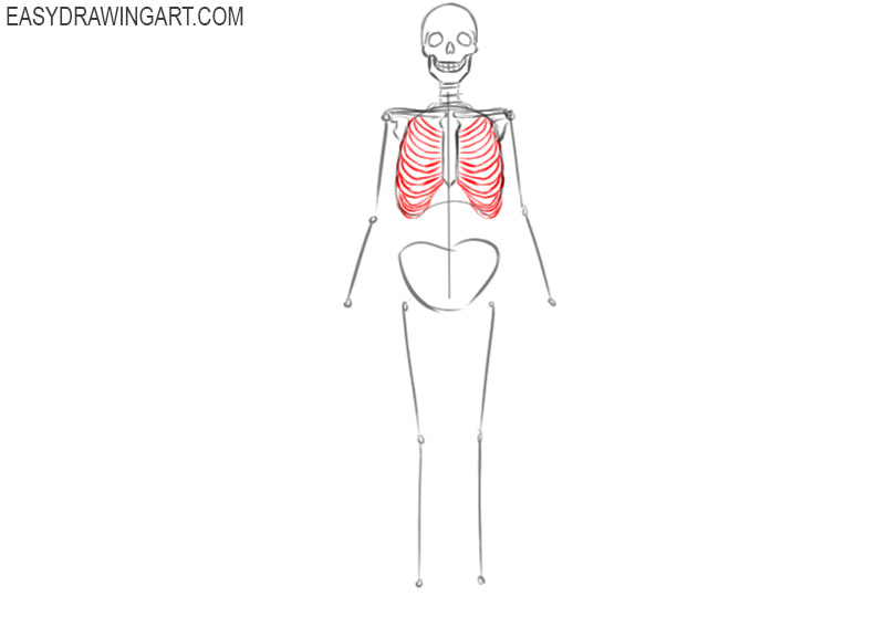 how to draw a cool skeleton