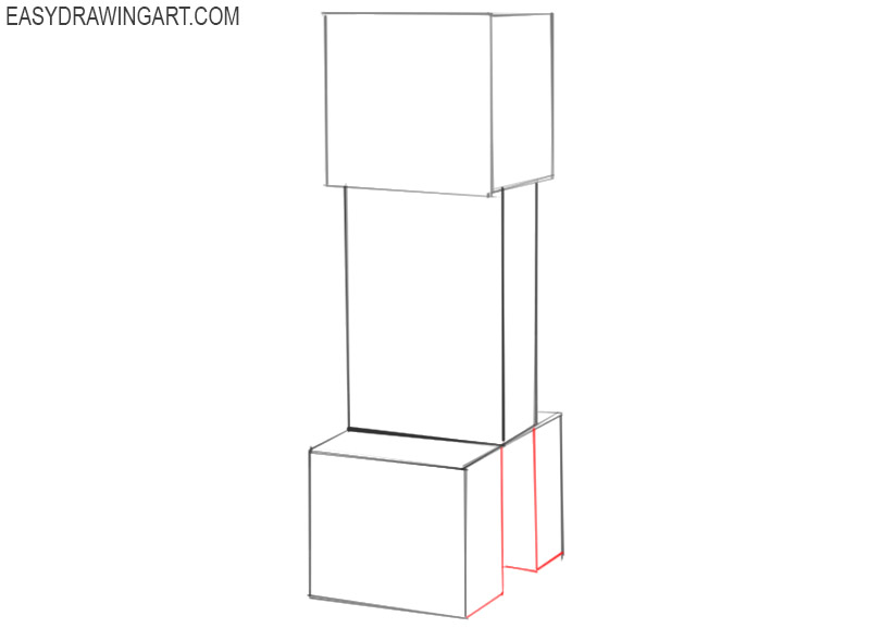 how to draw a creeper from minecraft easy