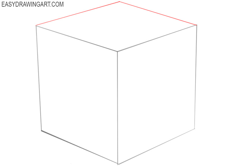 how to draw a cube easy step by step