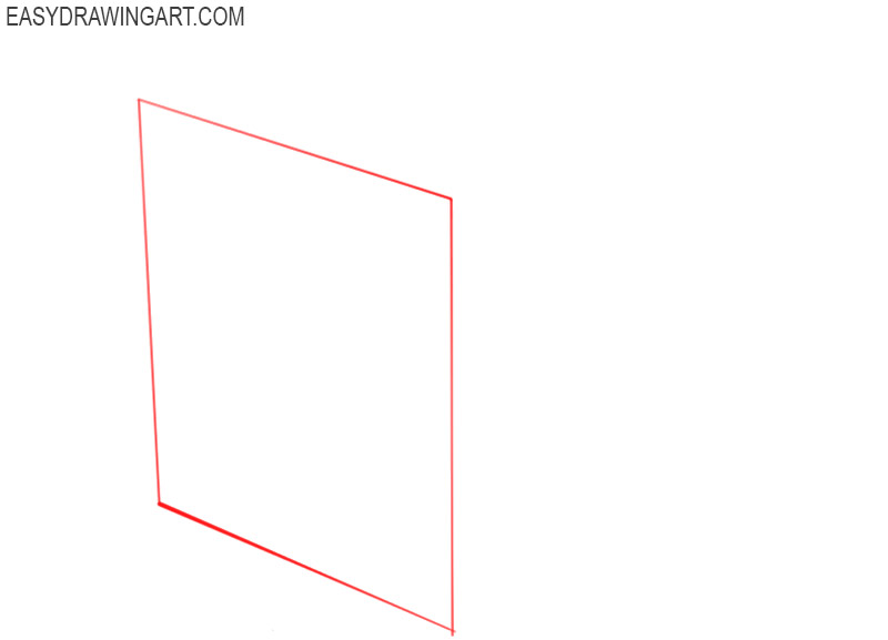 how to draw a cube easy