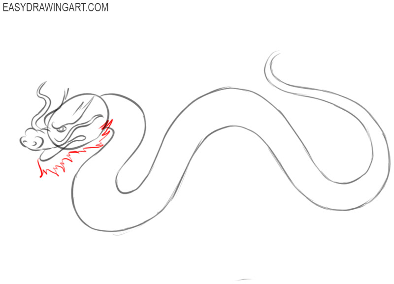 how to draw a cute chinese dragon