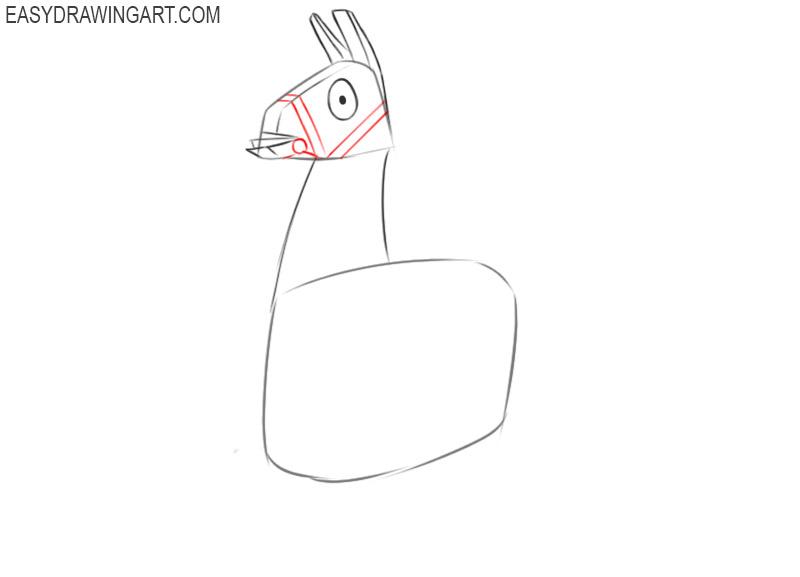 how to draw a cute fortnite llama