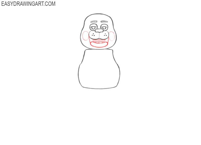 how to draw a cute freddy fazbear