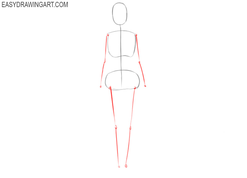 how to draw a female body easy
