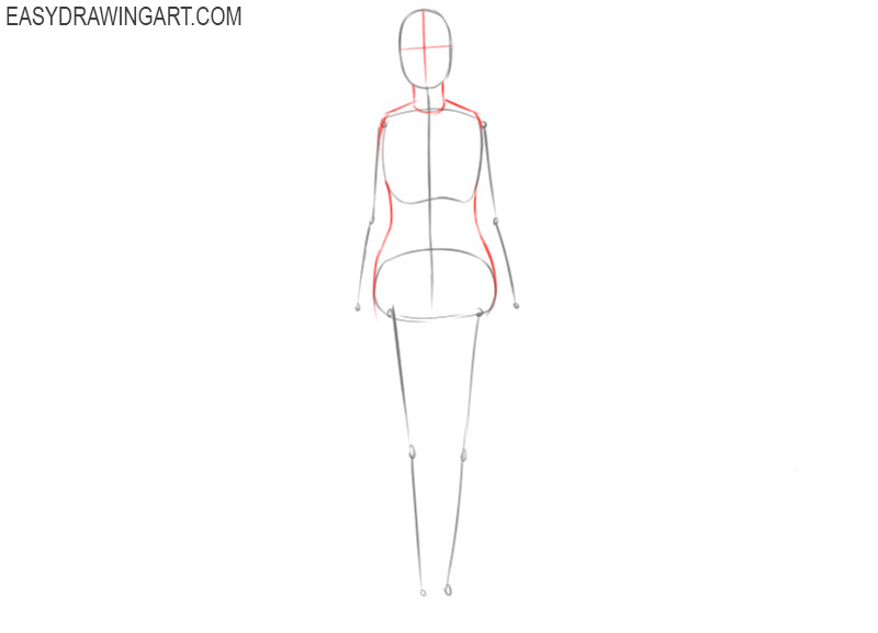 how to draw a female body outline