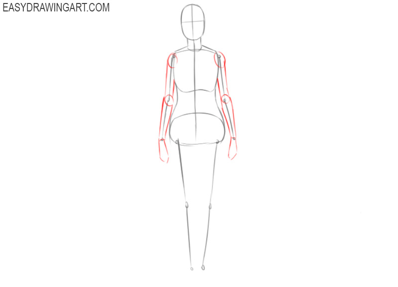 how to draw a female body step by step for beginners