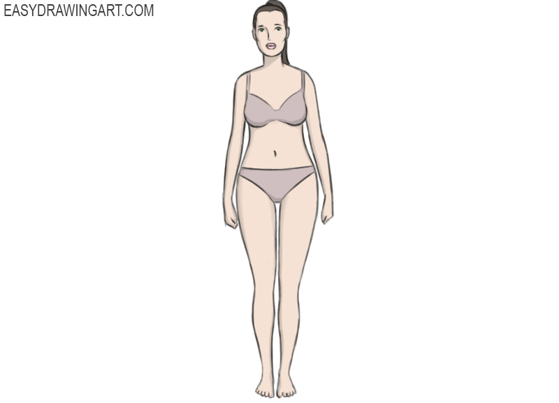how to draw a female body