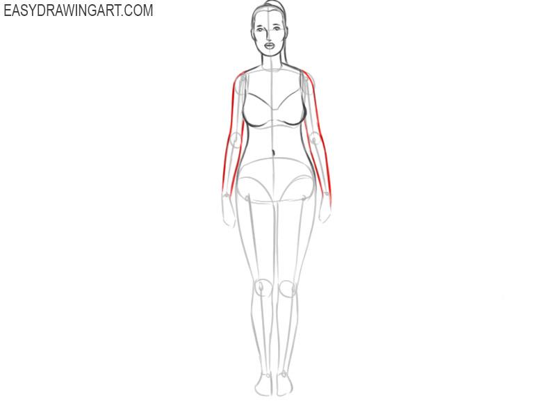 how to draw a female cartoon body