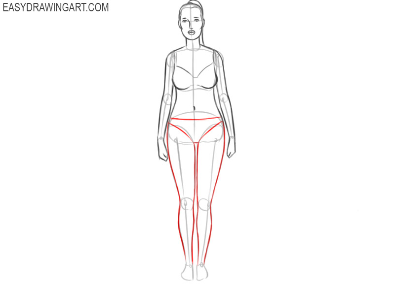 how to draw a female human body step by step