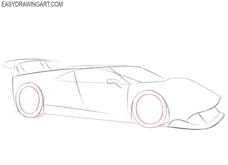 how to draw a ferrari drawings