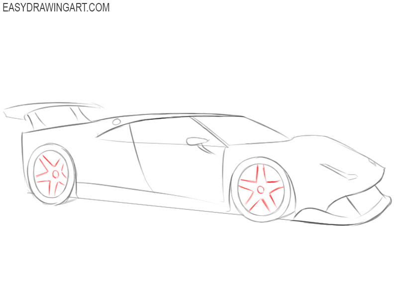 how to draw a ferrari step by step with pictures