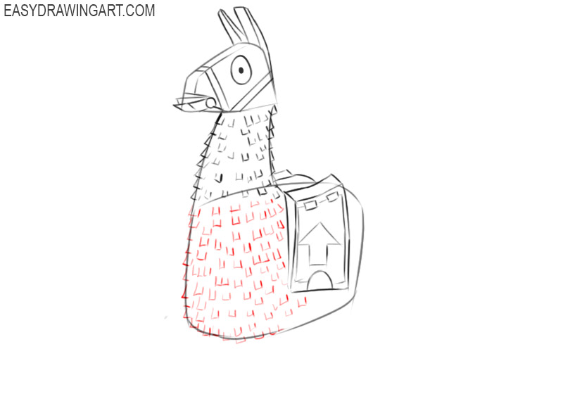 how to draw a fortnite unicorn llama