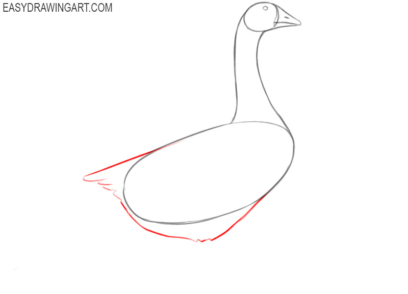 how to draw a goose in easy way