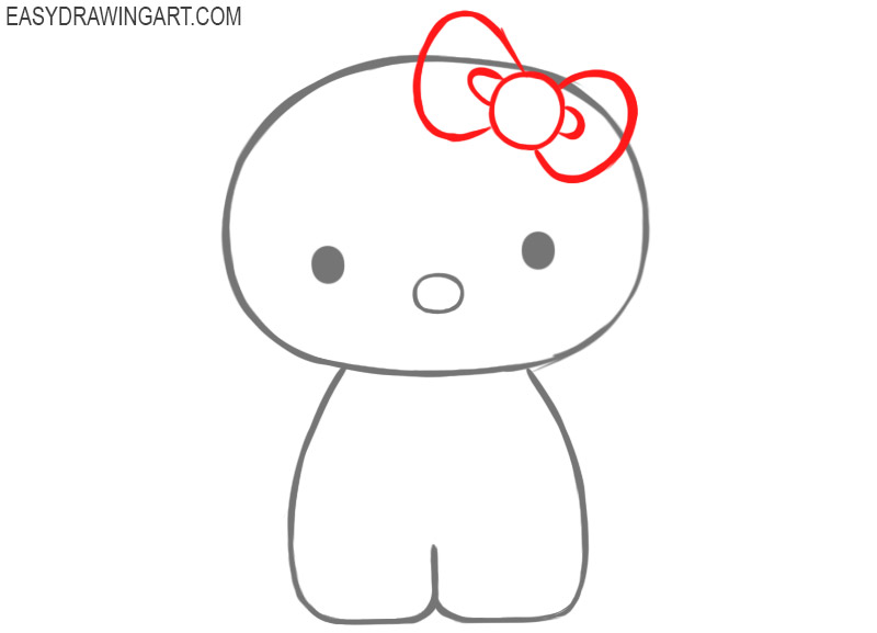 how to draw a hello kitty step by step