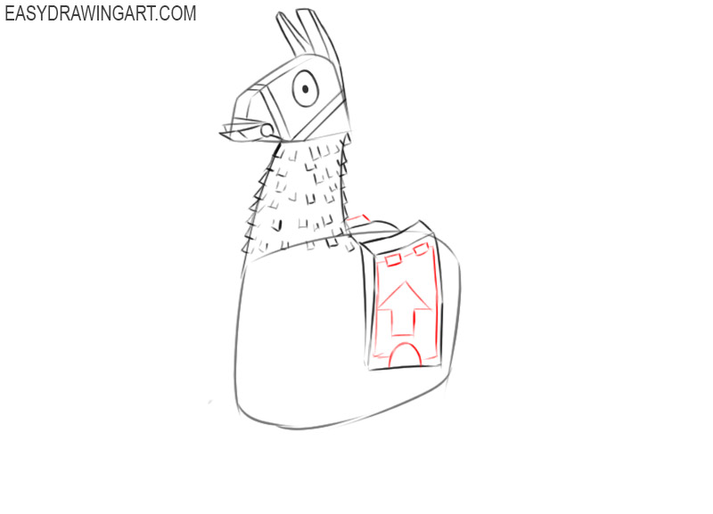how to draw a llama fortnite easy
