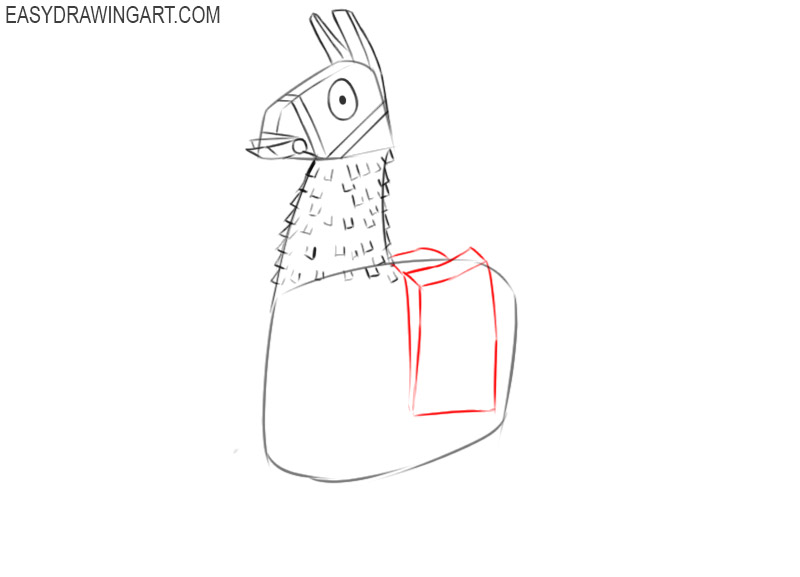 how to draw a llama fortnite step by step