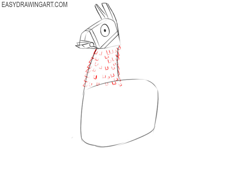 how to draw a llama fortnite