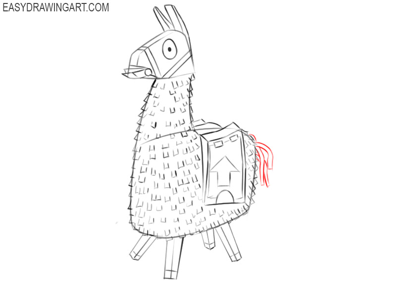 how to draw a llama from fortnite easy
