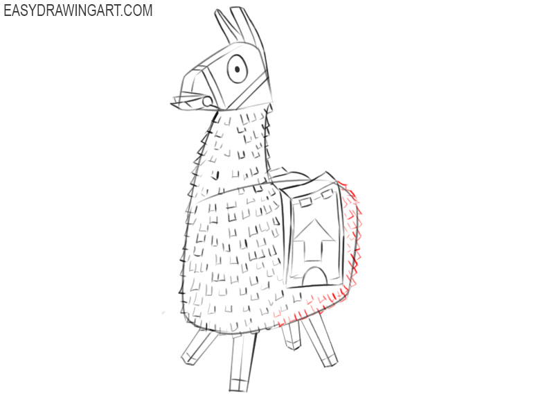 how to draw a llama from fortnite step by step