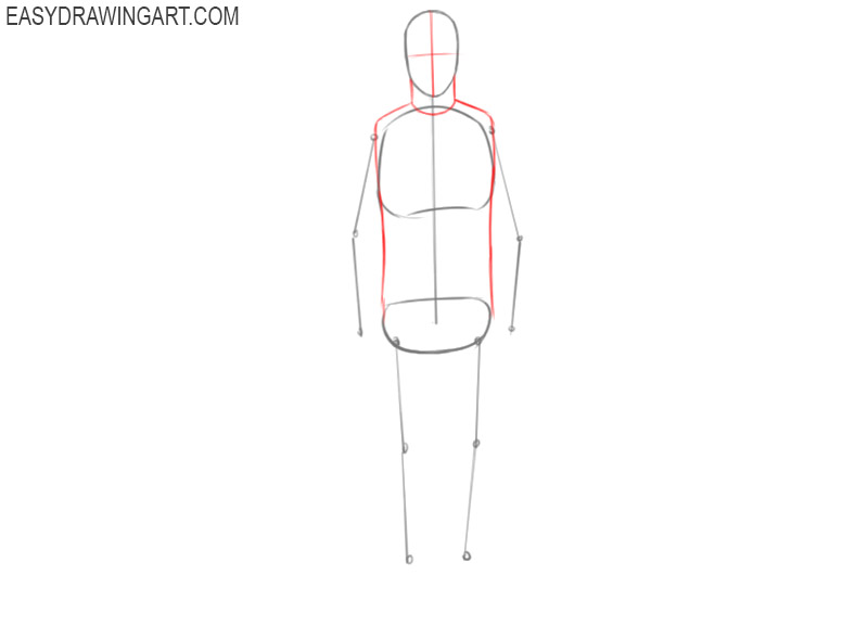 how to draw a man body easy