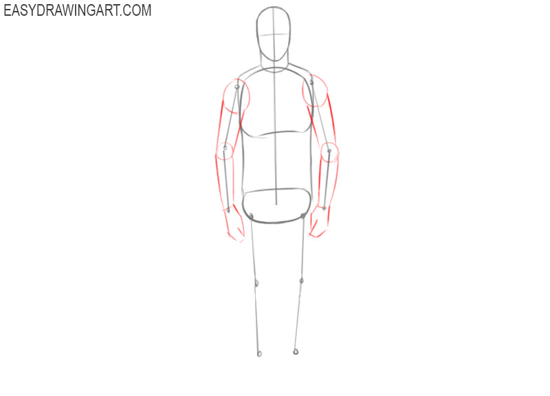 how to draw a man drawing