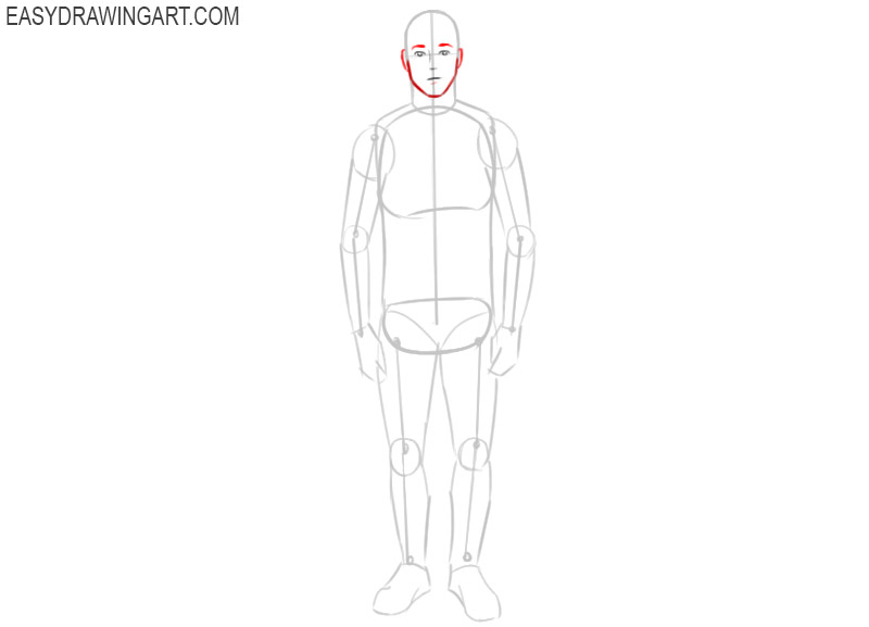 how to draw a man in easy way