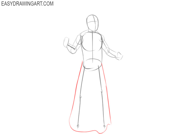 how to draw a simple wizard step by step