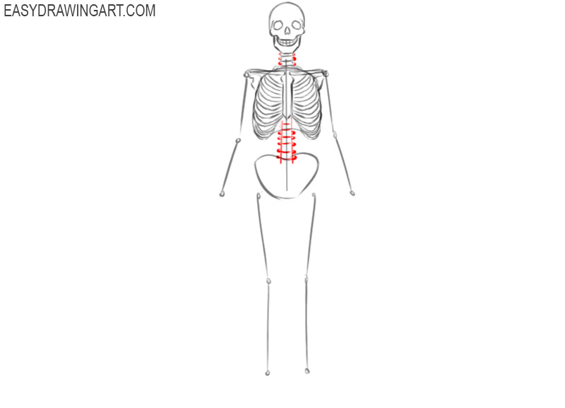 how to draw a skeleton drawings